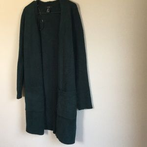 Forever 21 Forest green cardigan, size S